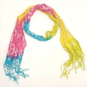 Accessories - Colorful Rainbow Tassel Scarf (P07-11)